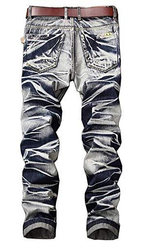 Jeans Straight Tide Blau Slim Pants New Retro Tempo Denim Libero Original Especial Da Pantaloni Uomo Estilo Classic Moda wqTrq8XB