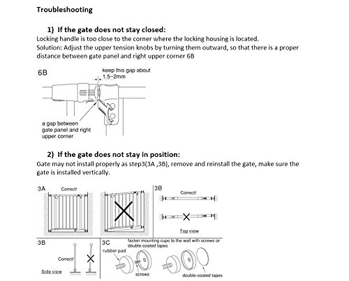 ''Easy-Close Gate'' by North States: The multidirectional swing gate with triple locking system - Ideal for doorways/between rooms. Pressure mount, fits openings 28'' to 38.5'' wide (29'' tall, Soft white) by North States (Image #9)