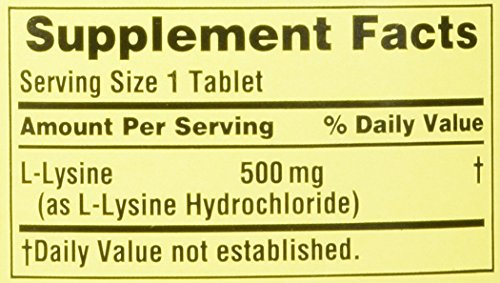 Spring Valley: Dietary Supplement L Lysine, 250 ct