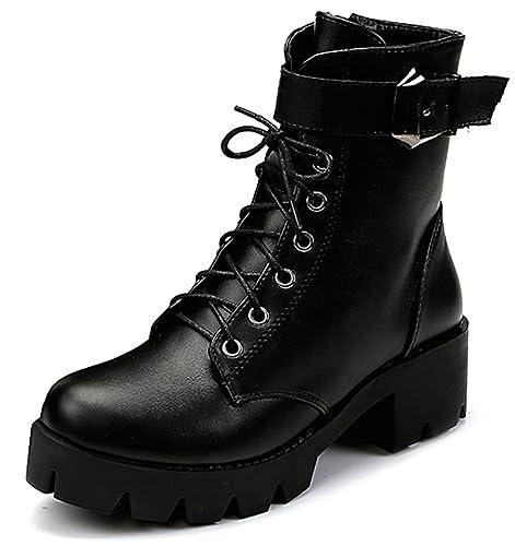 1988bd17946 Amazon.com   Orlancy Women's Autumn Ankle Booties Zipper Block Heel ...