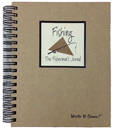 Fishing, The Fisherman's Journal - Kraft Hard Cover (prompts on Every Page, Recycled Paper, Read and More)