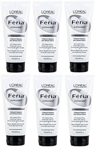 L'OREAL Feria Color Moisturizing Treatment 6 oz (6 Pack)