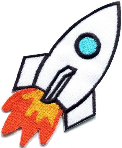 Rocket Missile Spacecraft Aircraft Outer Space Ufo Applique Iron-on Patch S-674 Handmade Design From ()