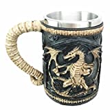 Legendary Skeletal Ossuary Ghost Dragon Overlord Large Beer Stein Tankard Coffee Cup Mug Great Gift For Dragon Lovers Party Hosting Centerpiece Fantasy Movie Drink Companion