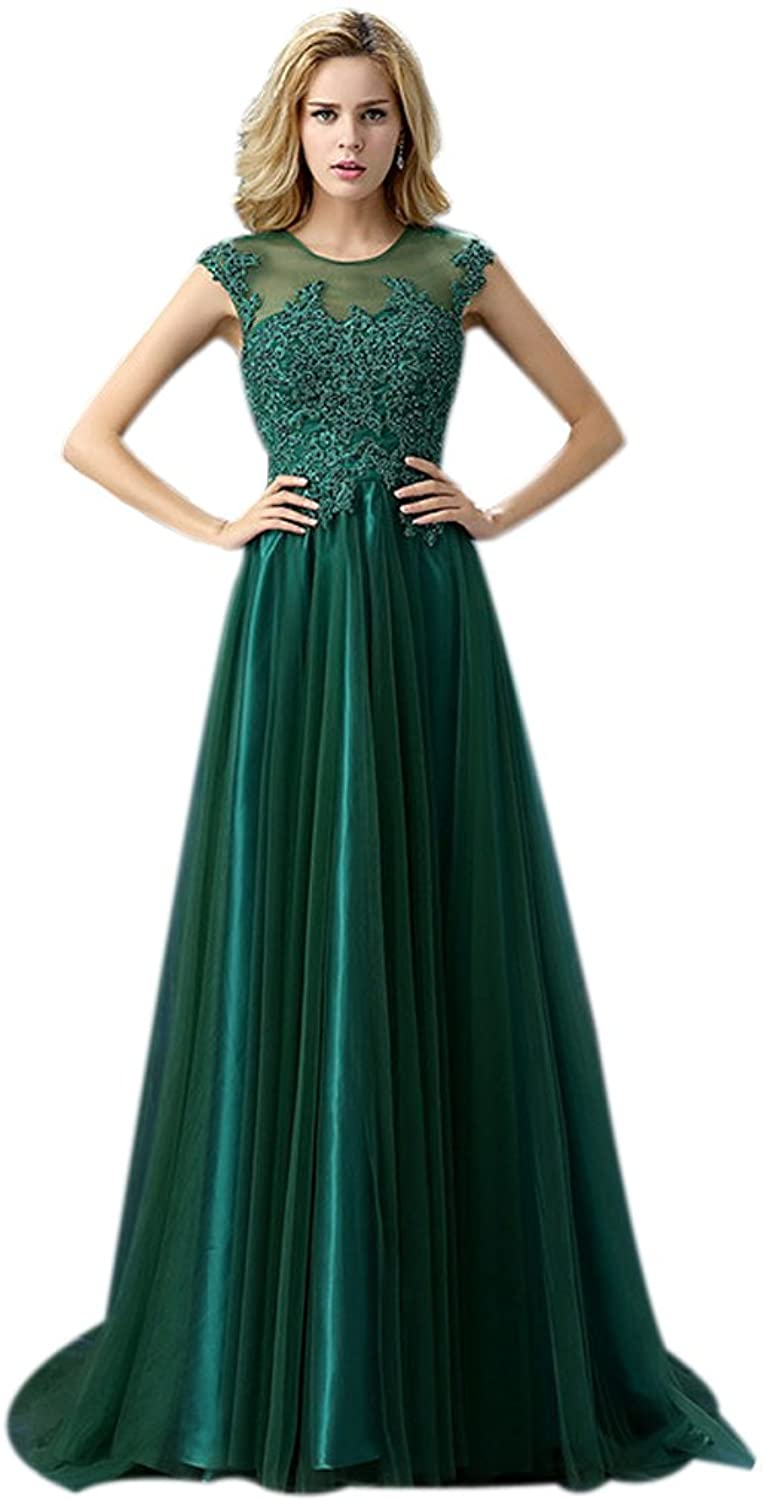 Eyekepper Lace Floral Beaded Bridesmaid Prom Long Formal Evening Dress