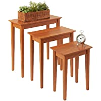 Manchester Wood Nesting Shaker Tables Set of 3 - Golden Oak