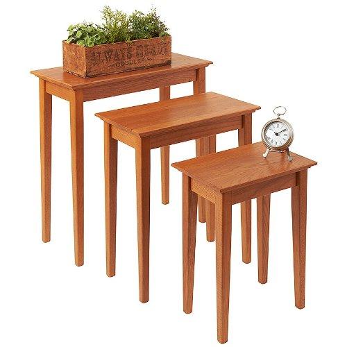 Golden Oak Desk (Manchester Wood Nesting Shaker Tables Set of 3 - Golden Oak)