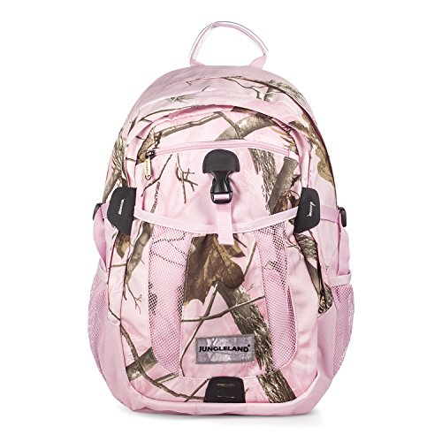 Jungleland Laptop Backpack for Women, Camo Backpack Hunting Water Resistant Shockproof Bag Hiking Daypack, Fits 15.6