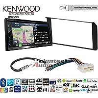 Volunteer Audio Kenwood DNX574S Double Din Radio Install Kit with GPS Navigation Apple CarPlay Android Auto Fits 1995-2002 Silverado, Sierra