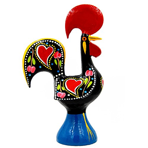 Ibergift 11 1/2 Inches Tall Traditional Portuguese Aluminum Rooster Galo de Barcelos