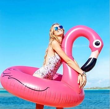 whosee hinchable natación salón de piscina anillo gigante Flamingo ...