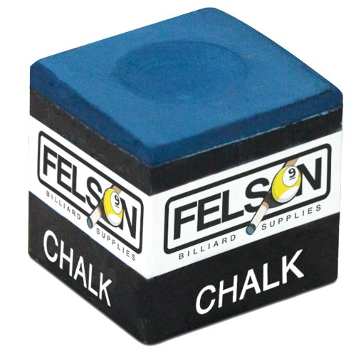 Box of 12 Blue Cubes of Pool Cue Chalk by Felson Billiard Supplies