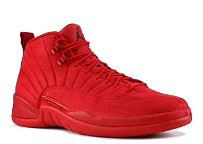 outlet store 0a9d1 e17c4 Image Unavailable. Image not available for. Color: Nike Mens Air Jordan 12  Retro Gym Red/Black ...