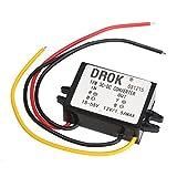 24V 48V to 12V Buck Converter, DROK Micro DC-DC Voltage Regulator Module 15-55V 36V to 12 V 1.5A 18W Step Down Power Supply Transformer Volt Inverter for Car Auto Motor Vehicle Automotive