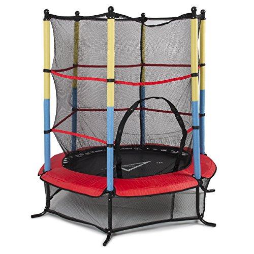 Akonza-55-45FT-Outdoor-Trampoline-Junior-Kids-Activity-Fun-Safety-Net-w-Enclosure-Net-Pad-Rebounder-Exercise
