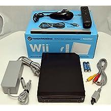 GameStop Premium Refurbished Nintendo Wii BLACK Video Game Console Home System Bundle Online RVL-001 GameCube