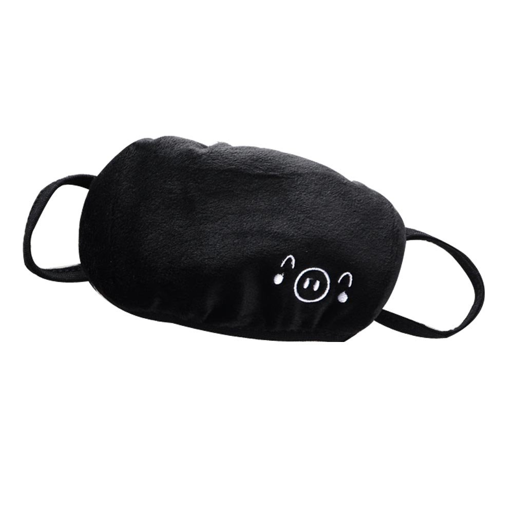 Black Cotton Mouth Muffle Warm Winter Mask Ear Loop Simple Masks