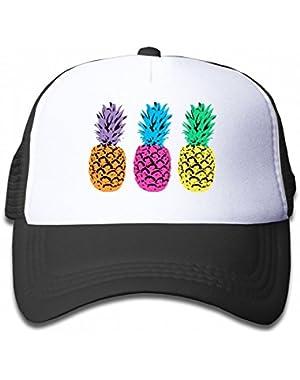 Triple Pineapple Group Youth Toddler Mesh Hats Kid Baseball Trucker Cap