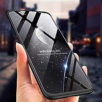 3 in 1 Slim Fit Caso Carcasa 360 /°de Protectora A Prueba de Golpes Anti-Huella Digital-Azul sigua Funda Note 9 Compatible para Samsung Galaxy Note 9 Fundas con 2X Cristal Templado