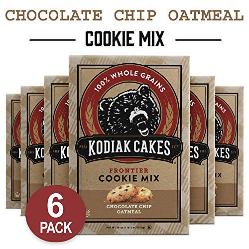 Kodiak Cakes Chocolate Chip Oatmeal Cookie Mix, 18-Ounce Boxes (Pack of 6) (Packaging May Vary) (Best Chewy Oatmeal Chocolate Chip Cookies)