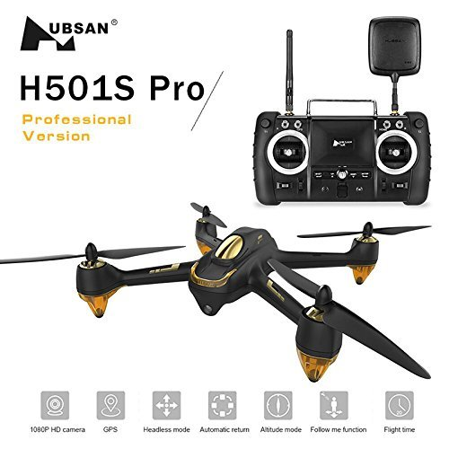 Hubsan H501s x4 Pro 5.8G FPV Cuadricoptero 10 Plus Canales sin ...