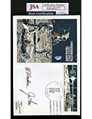 James Irwin Al Worden JSA Coa Hand Signed Space FDC Cache Autograph