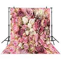 Allenjoy 5x7ft Photography backdrops background wedding bouquet pink floral flower wall rose bush studio newborn baby photocall