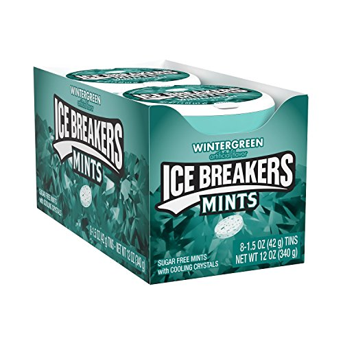 ICE BREAKERS Sugar Free Mints, Wintergreen 1.5 Ounce (Pack of ()