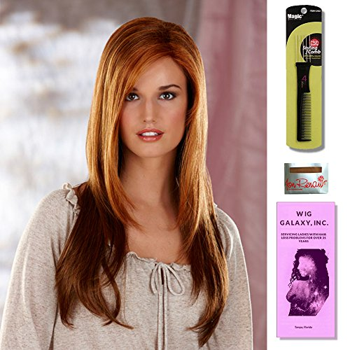Vanity by Henry Margu, Wig Galaxy Hair Loss Booklet & Magic Wig Styling Comb/Metal Pick Combo (Bundle - 3 Items), Color Chosen: 14H by Henry Margu & Wig Galaxy