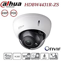 Dahua Dome Camera HDBW4431R-ZS 4MP IP Camera Varifocal Motorized Zoom 2.7-12mm lens POE Waterproof Outdoor Network Security Surveillance System IP67 IK10 ONVIF H.265 H.264 International Version