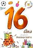MV 69-2016Age 16Years Kids Boys Girls Scooter Design Gifts Hamburger Basket Nail Polish Football Happy Birthday Card-Happy Birthday