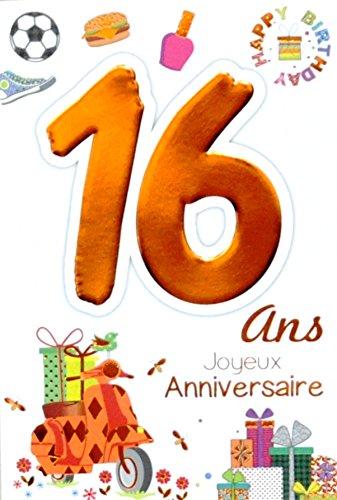 Age Mv 69 2016 Carte Joyeux Anniversaire 16 Ans Ados Garcon Fille