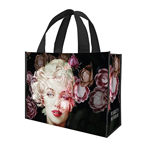 Vandor 70896 Marilyn Monroe Large Recycled Shopper Tote, 16 x 6 x 12 inches, Black, Pink