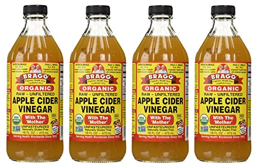 Bragg USDA Gluten Free Organic Raw Apple Cider Vinegar, 4 Pack by Bragg