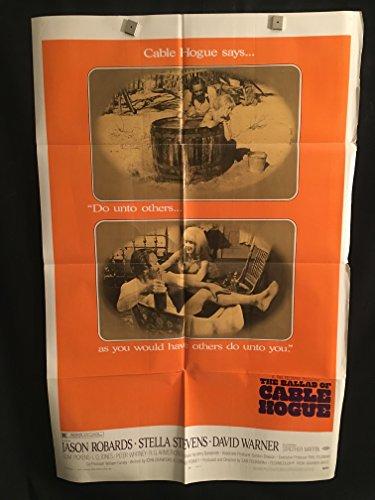 The Ballad Of Cable Hogue 1970 Original Vintage One Sheet Movie Poster, Sam Peckinpah, Stella Stevens, Western,...
