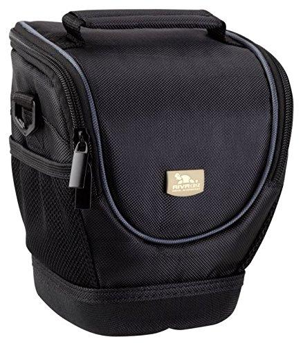 Rivacase Medium DSLR Holster Camera Bag, Classic, Padded, Water Resistant, Black Color - Basic Torso Model