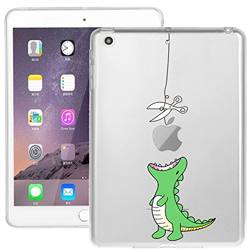 iPad Mini Case, iPad Mini 2/3 Case, Doramifer Funny Series Protective Case [Anti-Slip] [Good Grip] [Ultra Thin] with Aesthetic 3D Print Soft Back Cover for iPad Mini 3/2/1 (Little Dinosaur)