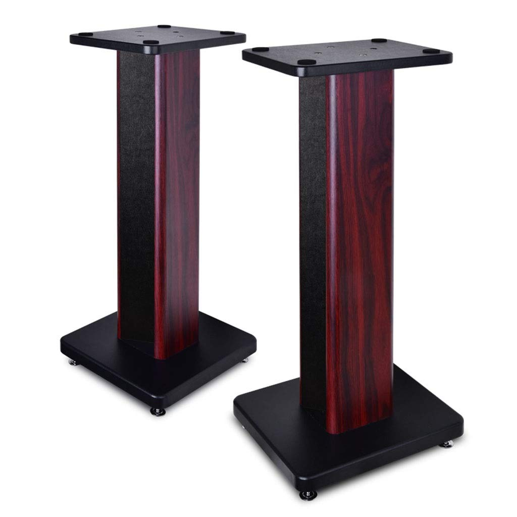 Speaker Stands Home Surround Sound Rack Solid Wood Floor A Pair, Single Load Can Bear 25 Kg (Color : Brown, Size : 50cm (19.7 inch)) by Speaker Stands
