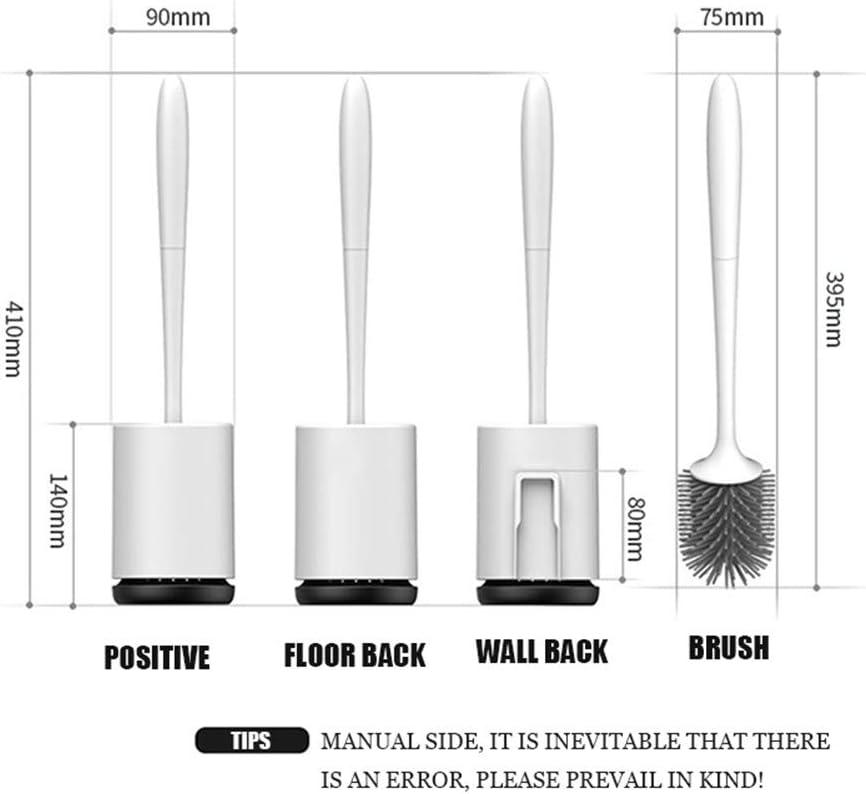 SWTHXY WC-B/ürste und Halter Toilettenb/ürstenhalter Ohne Bohren Wand Toilettenb/ürsten f/ür Badezimmer oder G/äste-WC (Wall-Mounted//Bodenstehend)