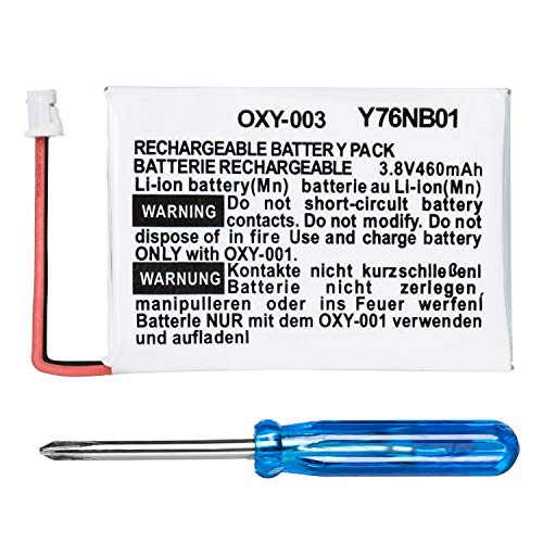 OSTENT 460mAh 3.8V Rechargeable Lithium-ion Battery Kit Pack Compatible for Nintendo GBM Game Boy Micro