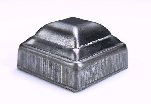 Bobco Metals Decorative Durable Heavy Duty Square Pressed Steel Caps 3 8 Pieces