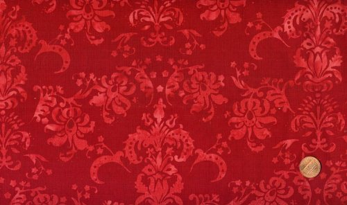Hoffman #H2319 Hand-Painted Bali Cherry Batik Cotton Fabric By the Yard