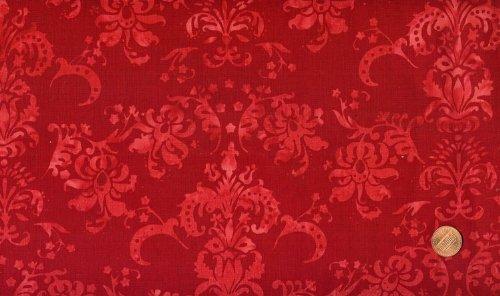 Hoffman Hand Painted Batik - Hoffman #H2319 Hand-Painted Bali Cherry Batik Cotton Fabric By the Yard