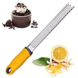 Cheese Grater Zester Stainless Steel – Great for Lemon, Ginger, Garlic, Parmesan, Coconut, Potato, Citrus – Shredder for Hard Cheeses - Fine Grate Spices by Zulay Kitchen