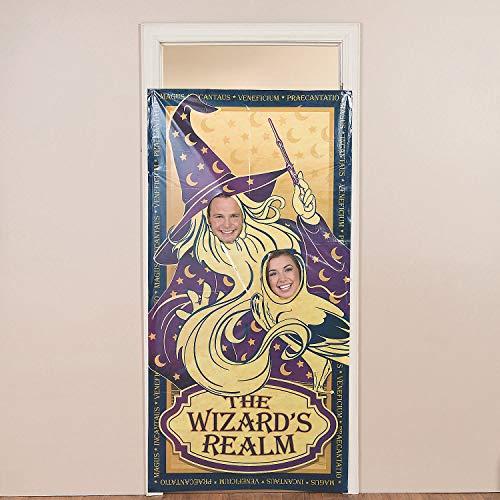 Fun Express - Wizard Realm Photo Door Banner for Birthday - Party Decor - Door Decor - Photo Door Banners - Birthday - 1 Piece (Realm Wizard Supplies Party)