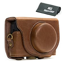 "MegaGear ""Ever Ready"" Protective Dark Brown Leather Camera Case , Bag for Sony Cyber‑shot DSC‑RX100 V, DSC-RX100M II, DSC-RX100 III, DSC-RX100 IV Digital Camera"