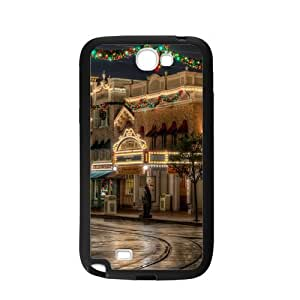 Case For Samsung Galaxy Note2 N7100,Lovely Christmas Street Decoration Polycarbonate Hard Case Back Cover For Samsung Galaxy Note 2/Samsung Galaxy N7100 3D
