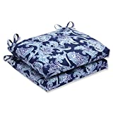 Pillow Perfect Outdoor Lahaye Squared Corners Seat Cushion, Indigo, Set of 2 Review