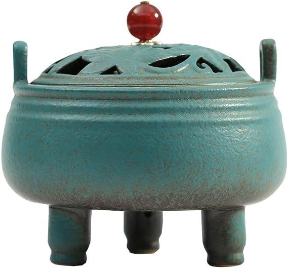 芳香器・アロマバーナー セラミック香炉ホームは、屋内サンダルウッドストーブ浄化エアライン香炉レトロアロマストーブを礼拝します アロマバーナー芳香器