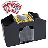 Brybelly GSHU-002.Free-18 * 4 4 Deck Card Shuffler with 4 Free Decks of Bicycle Playing Cards